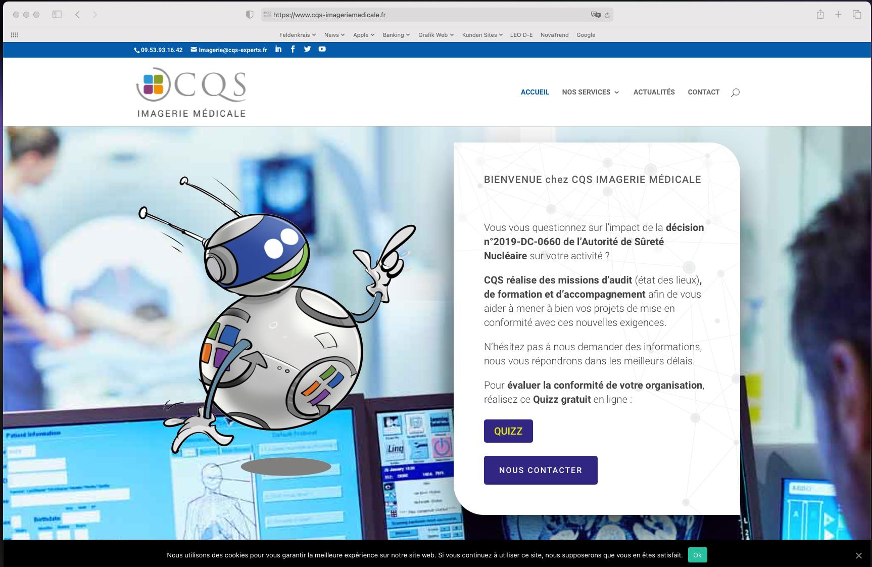 Website CQS Imagerie Médicale, Nice France