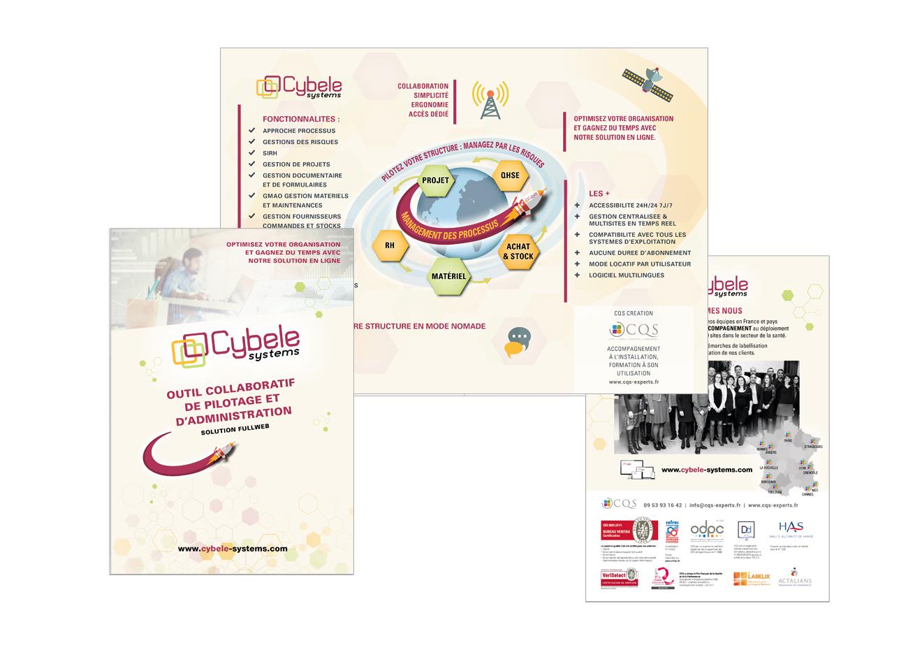 Flyer Cybele Systems LOGICIEL TOUT EN UN DE PILOTAGE DE VOTRE ENTREPRISE