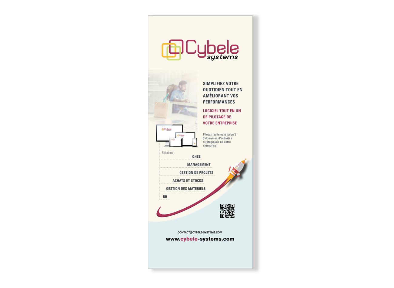 Roll-Up Cybele Systems LOGICIEL TOUT EN UN DE PILOTAGE DE VOTRE ENTREPRISE