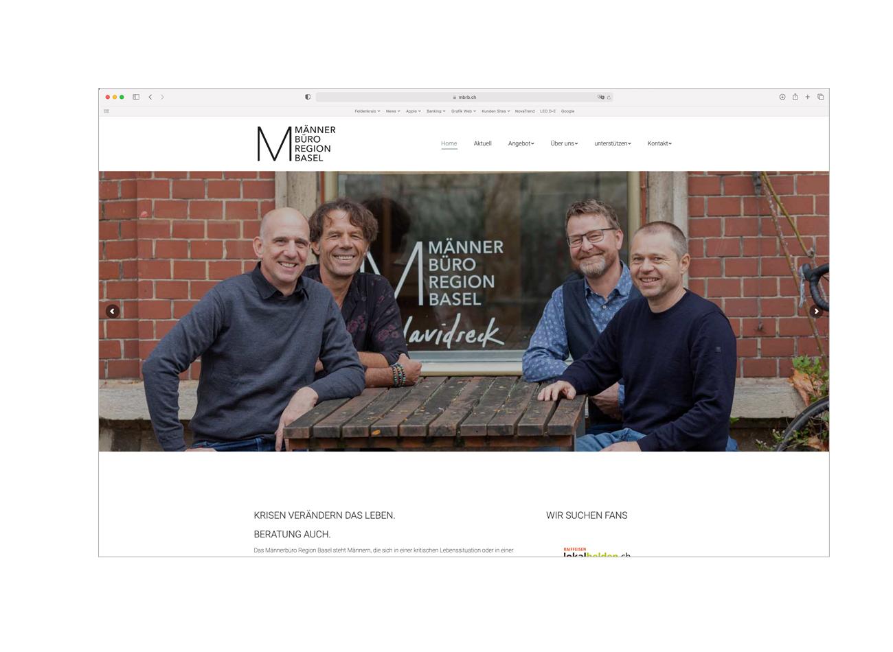 Männerbüro Region Basel - Fotografie und Website